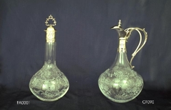 Carafe and Flask with Murano glass